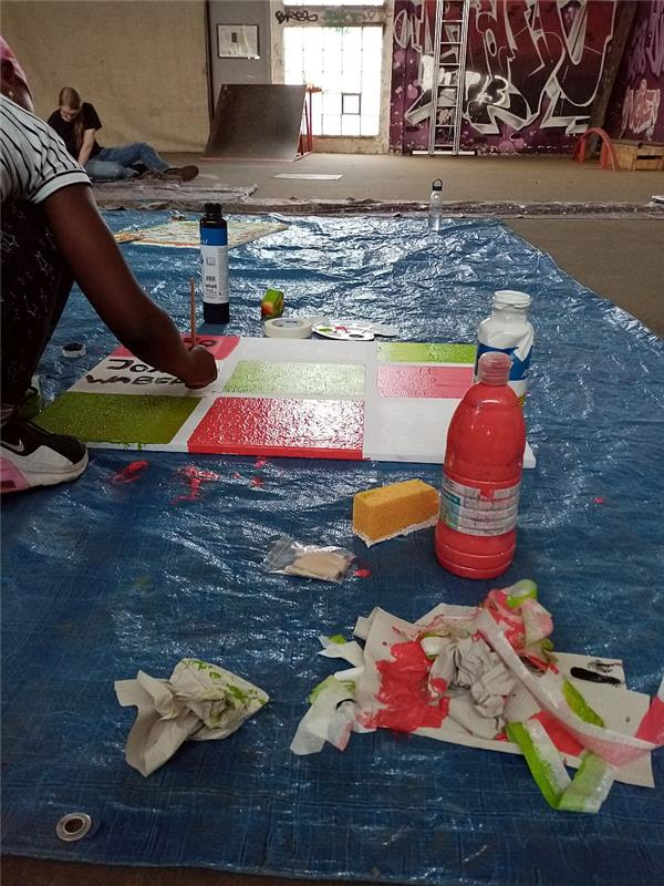 24.07.20 ACTION-Painting - Kinder- und Jugendzentrum Borssum